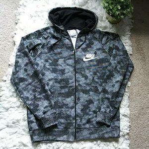 Nike black/white sports zipper hoodie
